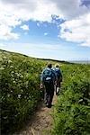 Couple Hiking, St Ives, Cornwall, England, United Kingdom