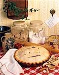 PIE RECIPE BAKE INGREDIENTS FLOUR BROWN SUGAR ROLLING PIN