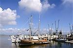 FISHING BOATS AT DOCK FERNANDINA BEACH FLORIDA