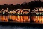 BOATHOUSE ROW ON SCHUYLKILL RIVER PHILADELPHIA, PENNSYLVANIA