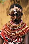 KENYA, AFRICA SAMBURU WOMAN IN TRADITIONAL DRESS