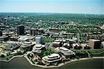 ARLINGTON, VA AERIAL VIEW OF CITY ALONG POTOMAC RIVER