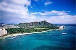 HONOLULU, OAHU, HAWAII-WAIKIKI BEACH, DIAMOND HEAD