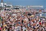 OCEAN CITY NJ CROWDED BEACH IN SUMMER
