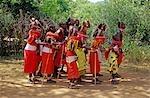 SAMBURU NATIONAL RESERVE KENYA AFRICA SAMBURU PEOPLE PERFORMING CEREMONIAL DANCE