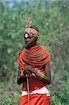 SAMBURU WOMAN IN NATIVE CLOTHING KENYA, AFRICA