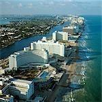 1970s AERIAL VIEW HOTEL ROW MIAMI BEACH FLORIDA