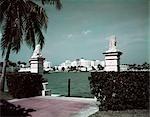 1950s SKYLINE MIAMI BEACH FLORIDA VIEW ALONG INDIAN CREEK