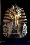 MASQUE D'OR DU ROI TOUTANKHAMON PHARAON MUSÉE ÉGYPTIEN DU CAIRE EGYPTE