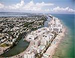 1960s AERIAL VIEW HOTEL ROW MIAMI BEACH FLORIDA