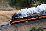 ANTENNE DE RAIL SP 4449 VINTAGE MACHINE À VAPEUR SACRAMENTO FAIR 91 REDDING CALIFORNIA
