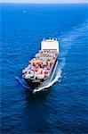 CONTAINER SHIP OFF SHORE JACKSONVILLE, FLORIDA