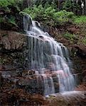 WASSERFALL, HERMOSA CREEK WATERSHED ENTLANG DER STRAßE 578, SAN JUAN NAT ' L WALD, SAN JUAN CO., BOLAM PASS, COLORADO