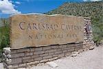 Des grottes de Carlsbad Parc National entrée, Nouveau-Mexique, États-Unis