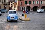 Old Car on Cobblestone Street, San Vito d'Altivole, Treviso Province, Veneto, Italy