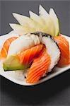 Close-up of Temaki sushi