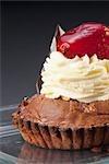 Close-up of a chocolate tart