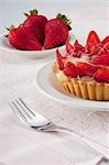 Close-up of strawberry tart