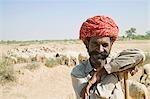 Portrait d'un berger souriant, Jodhpur, Rajasthan, Inde