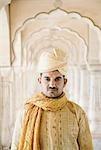 Portrait d'un homme, Amber Fort, Jaipur, Rajasthan, Inde