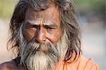 Portrait of a sadhu, Hampi, Karnataka, India