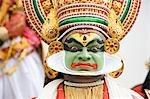 Portrait of a man kathakali dancing