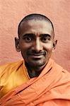 Portrait of a monk smiling, Bodhgaya, Gaya, Bihar, India
