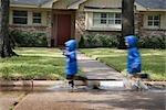 Enfants courir dans la rue