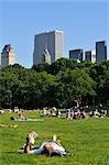 Sheep Meadow, Central Park, New York City, New York, USA