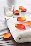 Flower Petals on Towel