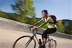 Frau, Reiten, Fahrrad, Steamboat Springs, Routt County, Colorado, USA