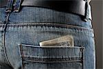 Money in Man's Pocket