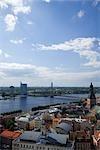Vansu Bridge, Daugava River, Riga, Riga District, Latvia