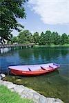 Boat on Galve Lake, Trakai, Lithuania