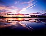 Sonnenuntergang, Dinish Insel Kenmare Bay, Kenmare, Co. Kerry