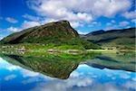 Eagle's Nest, Killarney Nationalpark, County Kerry, Irland; Küste und Himmel spiegelt sich in den Ozean