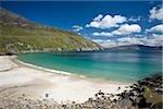 Achill Island, Co Mayo, Ireland; White sand beach at Keem Strand