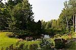 Pond in Garden, Magog, Quebec, Canada