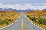 Denali Highway and Alaska Range, Alaska, USA