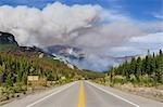 Feu de forêt, le Parc National Banff, Alberta, Canada