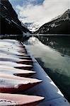 Canots, lac Louise, Parc National Banff, Alberta, Canada