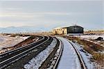 Railway Tracks, Pincher Creek, Alberta, Canada