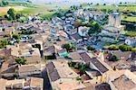 Overview of Saint Emilion, Gironde, Aquitaine, France