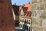 Historic Centre, Rothenburg ob der Tauber, Ansbach District, Bavaria, Germany
