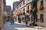 Historic Center, Rothenburg ob der Tauber, Ansbach District, Bavaria, Germany