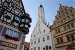 Town Hall, Rothenburg ob der Tauber, Ansbach District, Bavaria, Germany