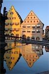 Fountain, Rothenburg ob der Tauber, Ansbach District, Bavaria, Germany