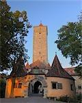 Castle Gate, Rothenburg ob der Tauber, Ansbach District, Bavaria, Germany