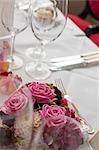 Close-up of Table set for Wedding, Salzburg, Austria