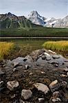 Lac Waterfowl et Mount Cephren, Parc National Banff, Alberta, Canada